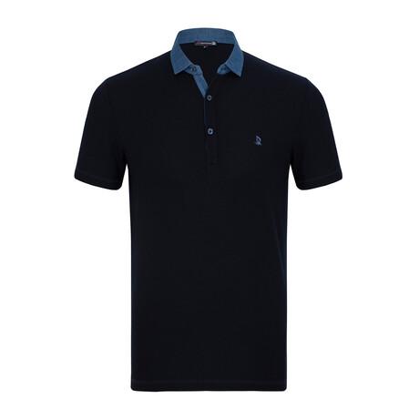 Prague Short Sleeve Polo Shirt // Navy (XS)