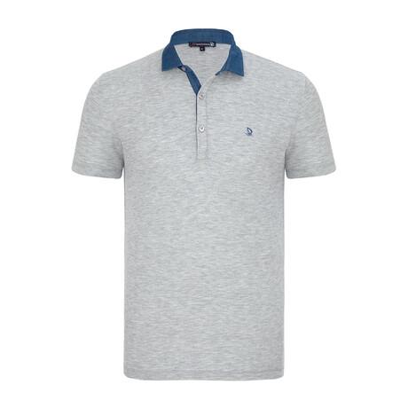Florence Short Sleeve Polo Shirt // Gray Melange (XS)