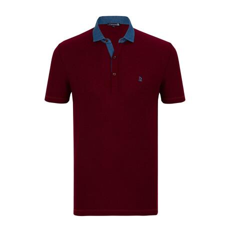 Denali Short Sleeve Polo Shirt // Bordeaux (XS)