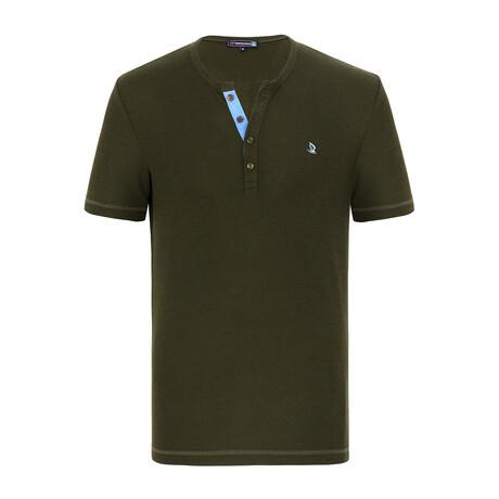 Milo Short Sleeve Shirt // Khaki (XS)