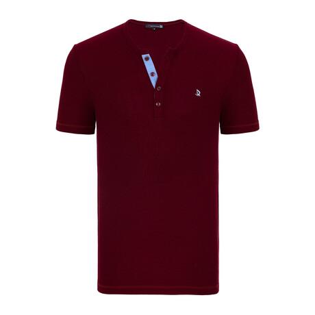 Francesco Short Sleeve Shirt // Bordeaux (XS)