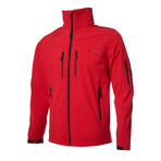 Hooded Zip Up Jacket // Red (2XL)