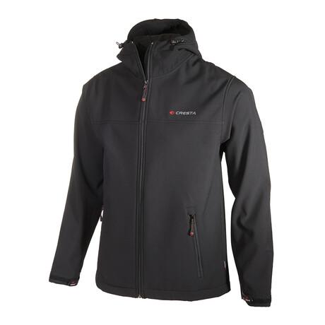 Hooded Zip-Up Jacket // Black (S)