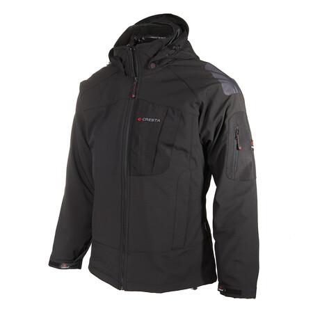 Hooded Windbreaker Jacket // Black (S)