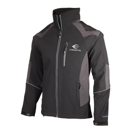 Color-Block Cresta Zip Jacket // Black (S)