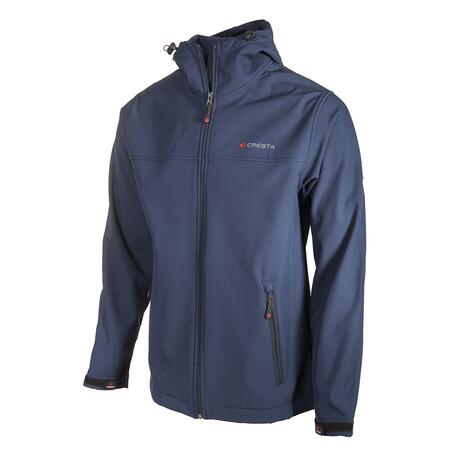 Hooded Zip-Up Jacket // Dark Blue (S)