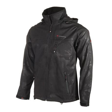 Camo 2 Cresta Zipper Jacket // Black (S)