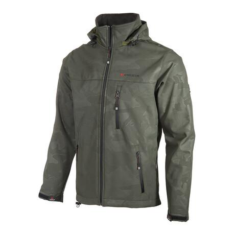 Camo 2 Cresta Zipper Jacket // Green (S)