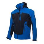Hooded Two-Tone Cresta Zipper Jacket // Dark Blue (M)