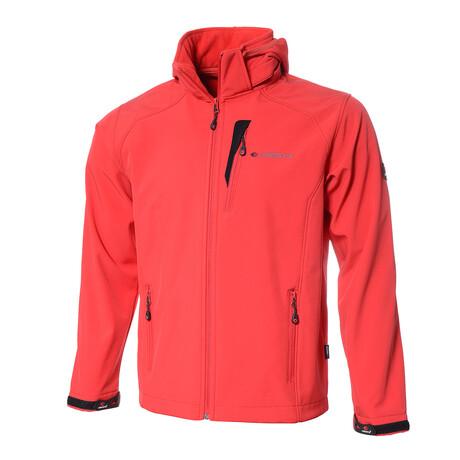 Hooded Cresta Zip-Up Jacket // Red (S)