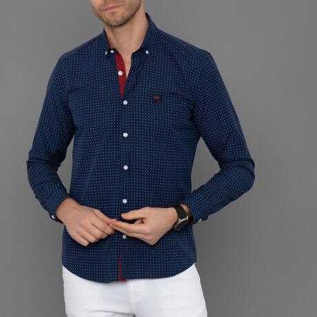 London Button Down Shirt // Navy Plaid (S)