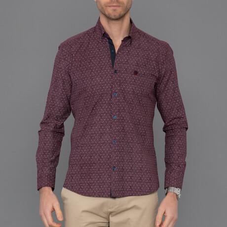 Geneva Button Down Shirt // Bordeaux (S)