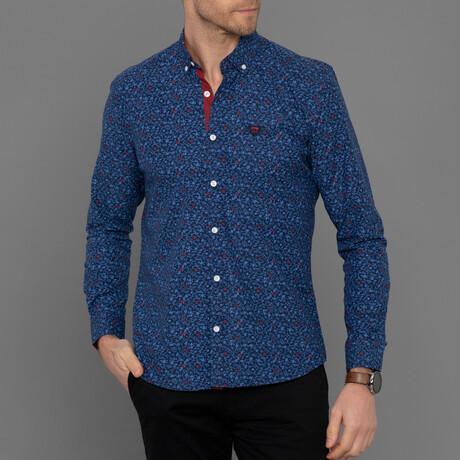 Presidio Button Down Shirt // Navy Plaid (S)