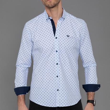 Calais Button Down Shirt // Navy Blue (S)