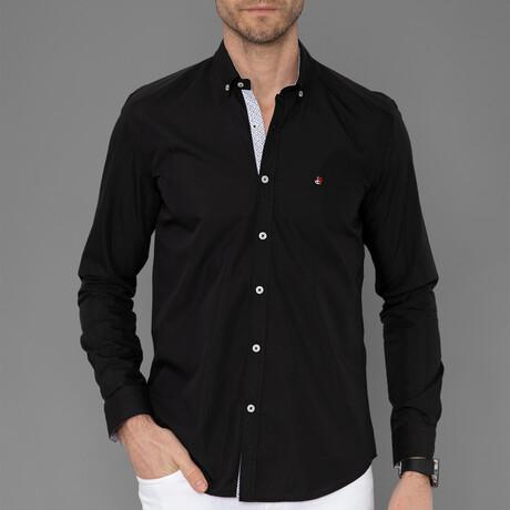 Lyon Button Down Shirt // Black (S)