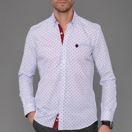 Nante Button Down Shirt // White + Red (S)