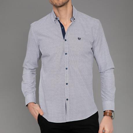 Avignon Button Down Shirt // Black + White (S)