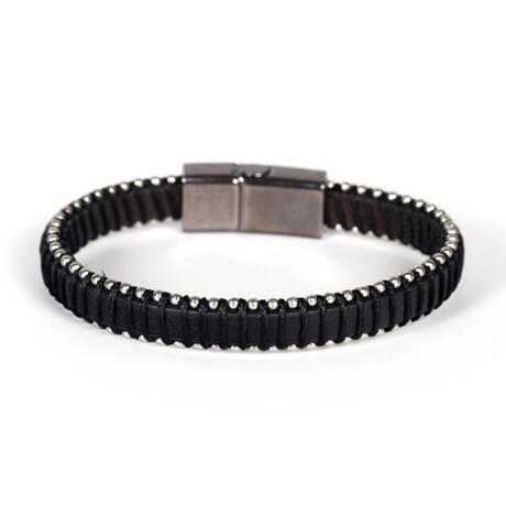 Meeus Bracelet // Anthracite + Silver