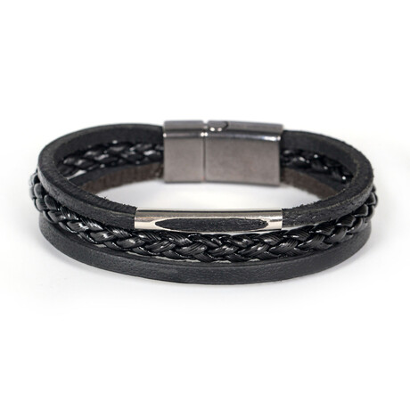 Wilsly Bracelet // Anthracite + Silver
