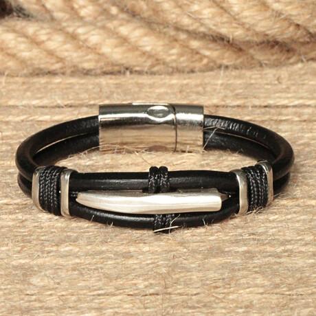 Tolhoek Bracelet // Black + Antique Silver