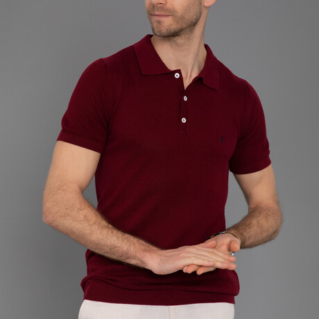 Jupiter Short Sleeve Polo // Bordeaux (S)