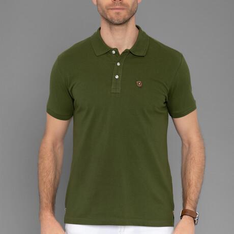 Quinn Short Sleeve Polo // Olive Green (S)