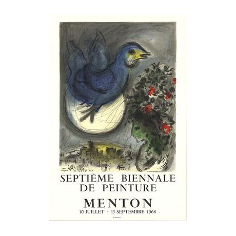 Marc Chagall // The Bluebird (L'Oiseau Bleu) // 1968 Lithograph