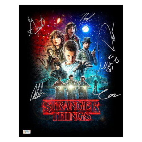 Stranger Things Cast // Autographed Stranger Things Poster