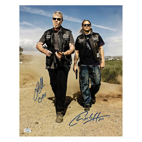 Charlie Hunnam + Ron Perlman // Autographed Sons of Anarchy Men of Mayhem Photo