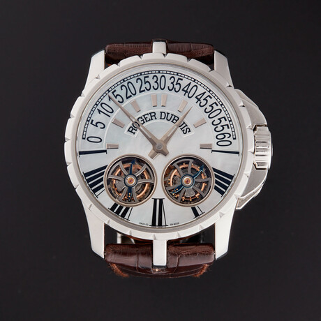 Roger Dubuis Steel Double Tourbillon 080/820 Automatic // EX45 01 9 N1 67A // Pre-Owned
