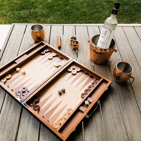 Backgammon Set (Chocolate Brown)