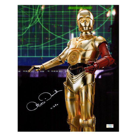Anthony Daniels // Autographed Star Wars: The Force Awakens C-3PO Metallic Photo