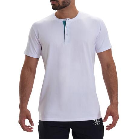 Vix Short Sleeve Active Henley // White (S)