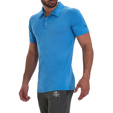 Bunker Short Sleeve Active Polo // Blue (S)
