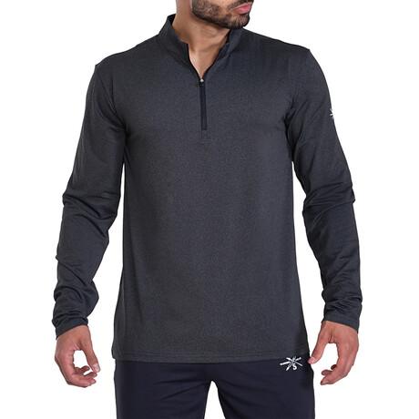 Interval 1/4 Zip Active Pullover // Black (S)