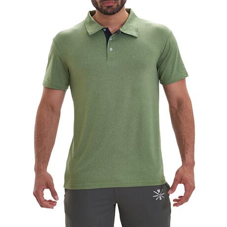 Bunker Short Sleeve Active Polo // Green (S)