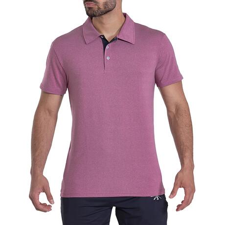 Bunker Short Sleeve Active Polo // Purple (S)