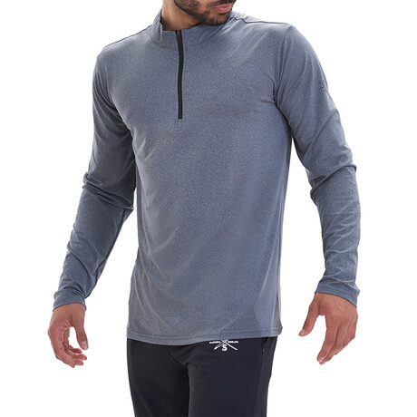 Interval 1/4 Zip Active Pullover // Blue (S)