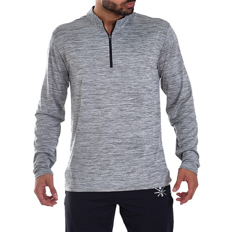 Interval 1/4 Zip Active Pullover // Gray (S)