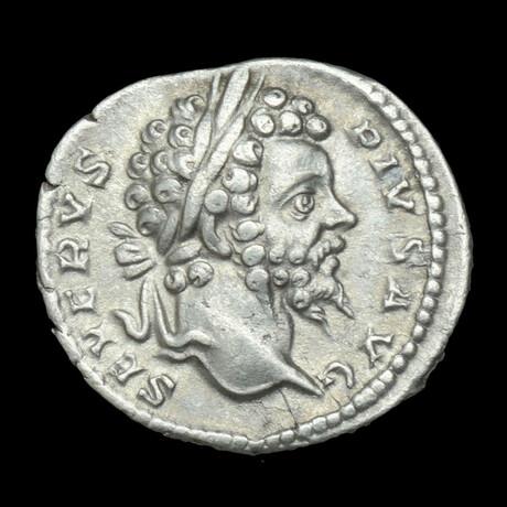 Roman Imperial Silver Denarius // Emperor Septimius Severus. III Century A.D.