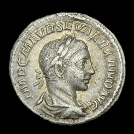 Roman Imperial Silver Denarius // Emperor Severus Alexander. III Century A.D.