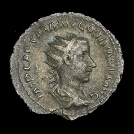 Roman Imperial Silver Antoninianus // Emperor Gordian III. 3rd Century A.D.