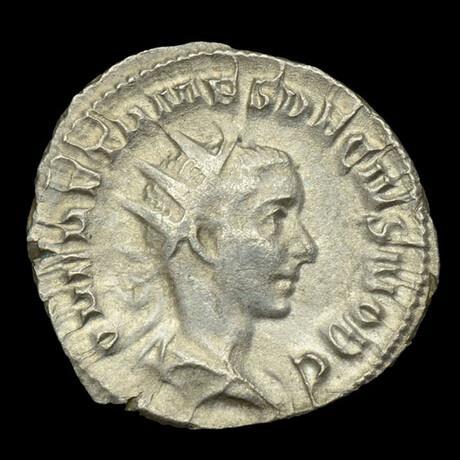 Roman Imperial Silver Antoninianus // Emperor Herennius Etruscus. III Century A.D.