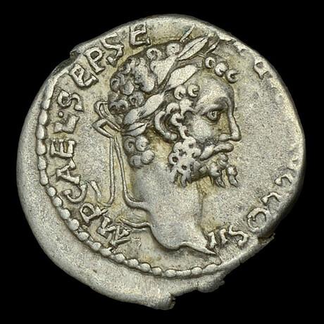 Roman Imperial Silver Denarius // Emperor Septimius Severus. II Century A.D.