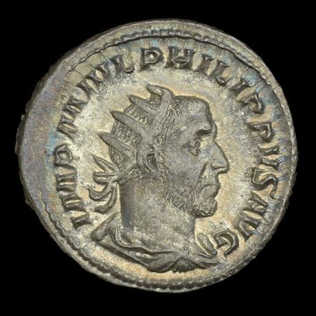 Roman Imperial Silver Antoninianus // Emperor Philip I. 3rd Century A.D.