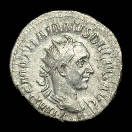 Roman Imperial Silver Antoninianus // Emperor Trajan Decius. III Century A.D.