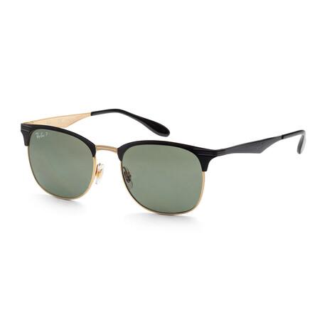 Ray-Ban // Unisex RB3538-187-9A Polarized Sunglasses // Black + Gold + Dark Green