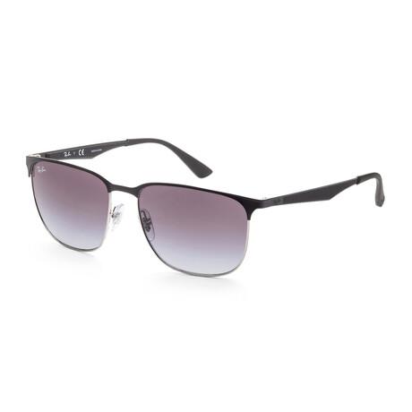Ray-Ban // Unisex RB3569-90048G Sunglasses // Black + Gray Gradient + Dark Gray