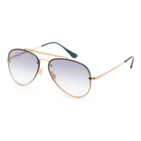 Ray-Ban // Unisex RB3584N-91400S58 Sunglasses // Demi Gloss Gold + Gray + Blue + Transparent