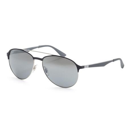 Men's RB3606-91268859 Sunglasses // Silver + Matte Gray + Blue